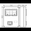 HB33KA-E Hensel Basic EON 2x3F v. 2x1F + vezérelt mérőóra szekrény