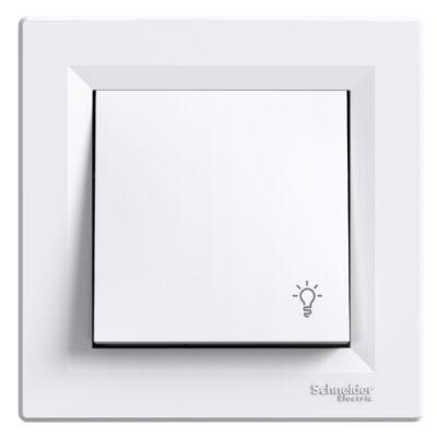 ASFORA N-101 egypólusú nyomó lámpa jellel kerettel fehér (0900121)