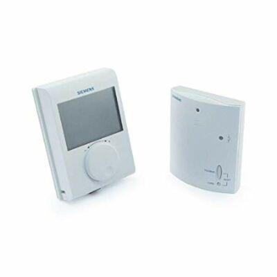 Szobatermosztát digitális NEM programozható, forgatógombos, LCD kij., rádiófr., SIEMENS RDH100RF/SET