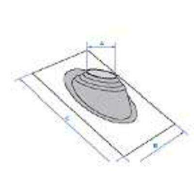 Tető átvezető idom családi házakhoz, cserép, pala szerkezetekhez  76,2-203,2 #1