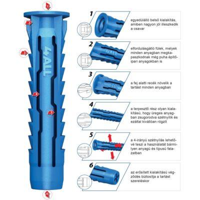 Műanyag tipli RAWLPLUG 4ALL-08 8x40 mm