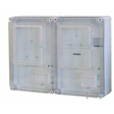 PVT EON 6045 Á-VFm - AM 2x1-3 F + vez 600x450x170 fogyasztásmérő óra szekrény