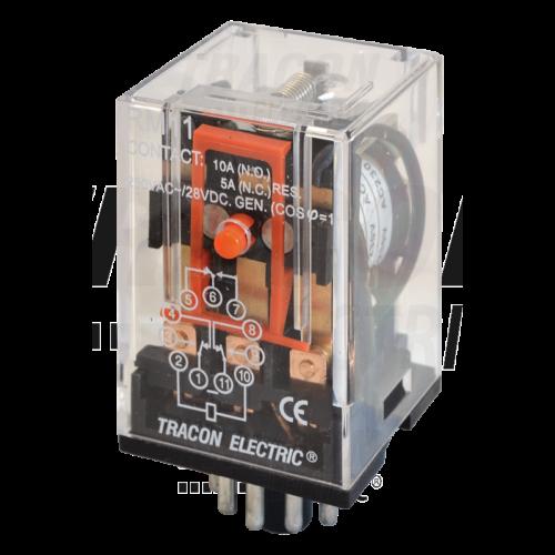 TRACON RM 11-220V AC 3xCO érintkező Ipari relé
