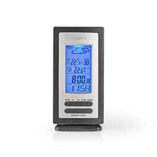 Digitális időjárás állomás NEDIS WEST201GY ( külső-belső vez. nélküli hőmérő, páramérő, óra )