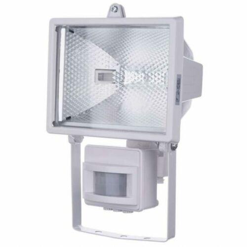 Halogén reflektor 500W + mozásérzékelő IP44 fehér