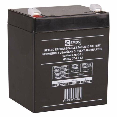 Gondozásmentes akkumulátor 12V 4,5Ah