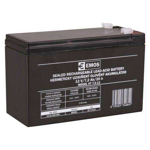 Gondozásmentes akkumulátor 12V 7,2Ah