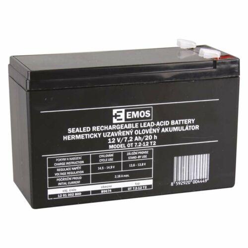 Gondozásmentes akkumulátor 12V / 7,2Ah / 20hr