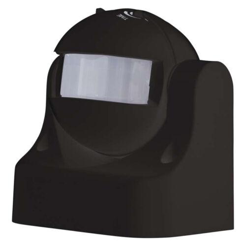 Mozgásérzékelő oldalfali billenthető fekete 180° 1200W (EMOS G1125)