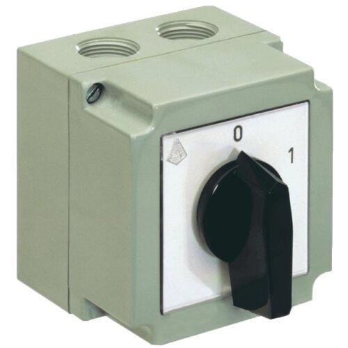 Tokozott kézikapcsoló 3P 20A 0-1 állású (APATOR 4G16-10-PK)