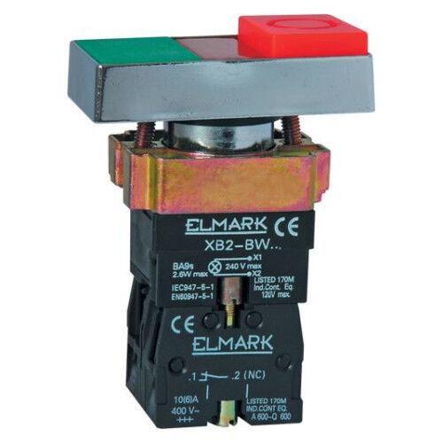 Nyomógomb beépíthető, dupla (piros-zöld) ELMARK (401845)