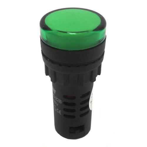 Kontrollámpa 22mm zöld AD56-22-PG (401323) ELMARK