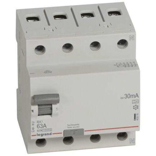 Áramvédő kapcsoló (Fi-Relé) LEGRAND RX3 4P. 63A 30mA (402076)