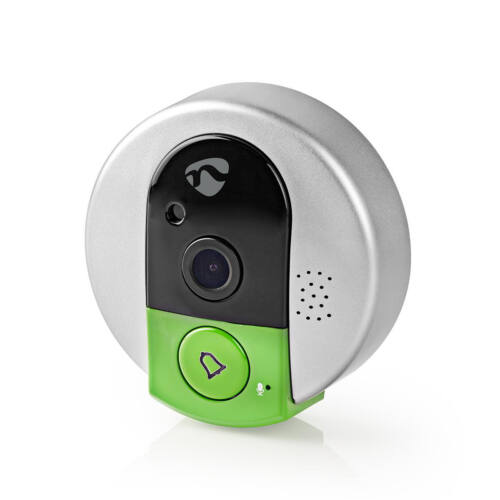Videó kaputelefon vezeték nélküli NEDIS DOORPW10CBK