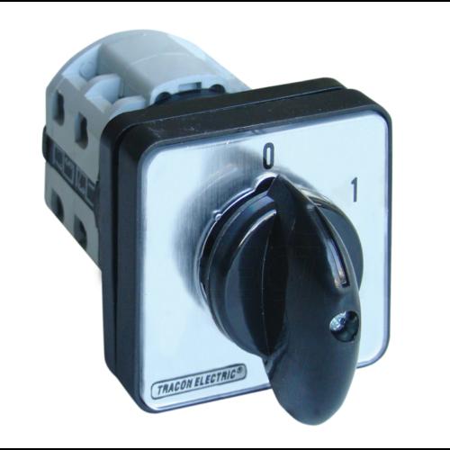 TRACON TK-326/3 3P 32A előlapra szerelhető 0-1 állású Kézikapcsoló