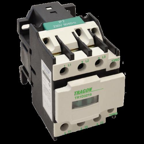 Mágneskapcsoló TRACON TR1D2510 230 V, 25A 50/60 Hz (11kW/400V)