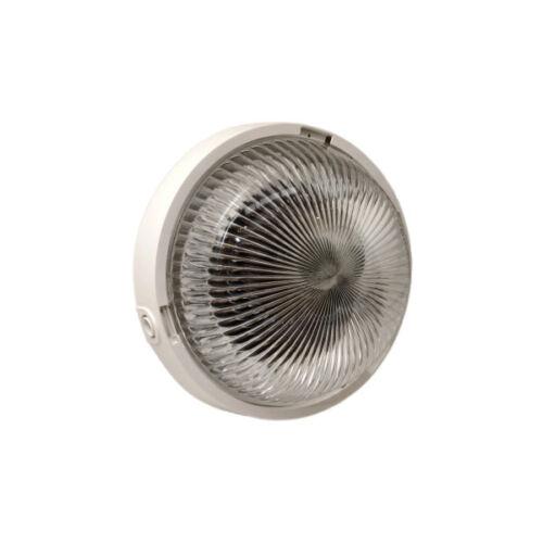 Mennyezeti lámpatest, műanyag, prizma (üveg) búrás, max. E27 100W, IP44 (SUZY)