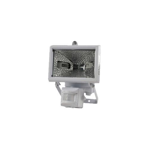 Halogén reflektor 120W + mozgás érzékelő IP44 fehér