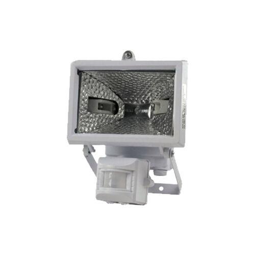 Halogén reflektor 400W + mozgás érzékelő IP44 fehér