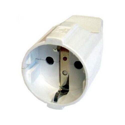 Lengő dugalj fehér 250V, 16A (331021)