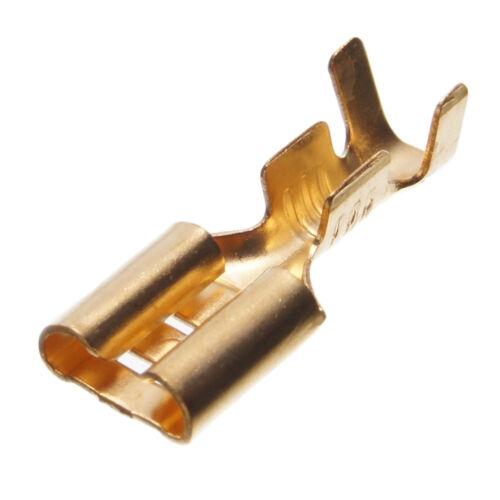 TRACON TR-CSH5 4,8x0,5mm RÉZ Szigeteletlen csúszósaru