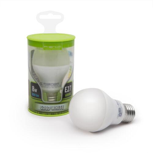 Félgömb E27 8 W SMD LED hideg fehér (6000-6500K) 800Lm (PHENOM)