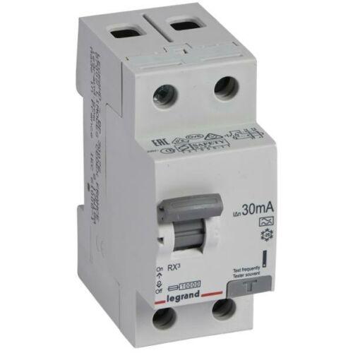 Áramvédő kapcsoló (Fi-Relé) LEGRAND RX3 2P. 25A 30mA (402036)