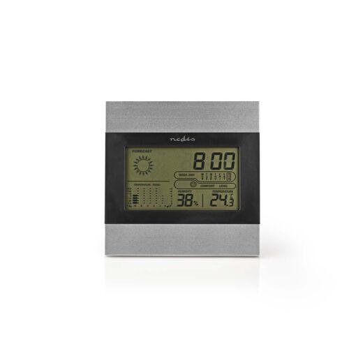 Digitális időjárás állomás NEDIS WEST102GY ( hőmérő, páramérő, óra )