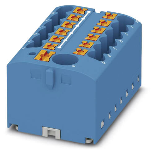 Elosztóblokk szigetelt bontható 1x6/12x2,5 mm2 kék PHOENIX PTFIX