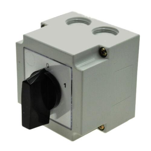 Tokozott kézikapcsoló 3P 16A 0-1 állású (APATOR 4G10-10-PK)