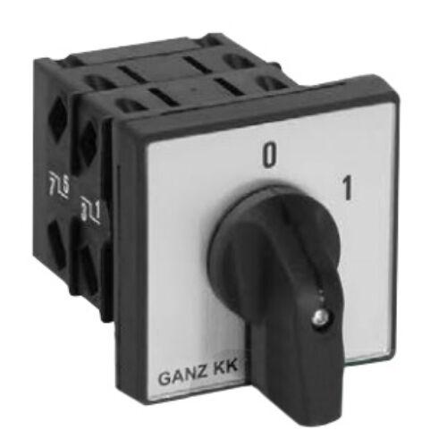 Kézikapcsoló 3P 32A előlapra szerelhető 0-1 állású (GANZ KK1-32-6002)