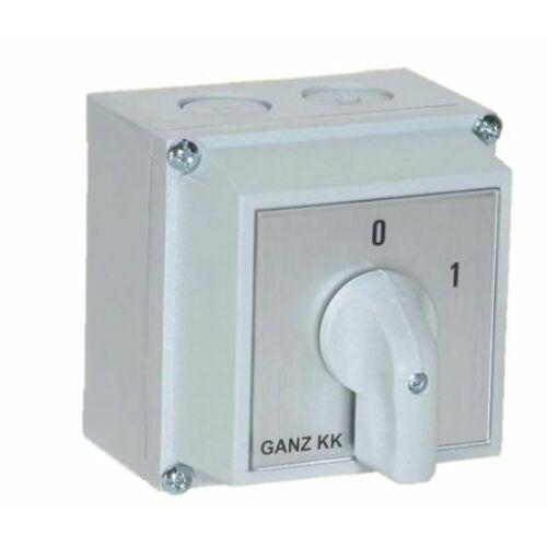 Tokozott kézikapcsoló 3P 32A 0-1 állású (GANZ KKM1-32-6002)