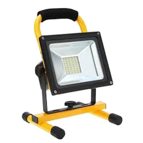 LED Reflektor hordozható 10W IP44 fekete AKKUMULÁTOROS (FL10R)