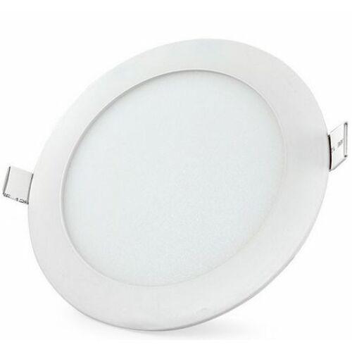 LED panel kerek, 18W, süllyesztett, 3000K meleg fehér