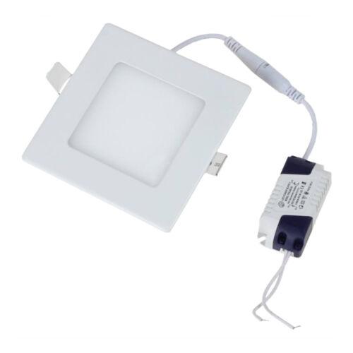 LED panel szögletes, 12W, süllyesztett, 4000K napfény fehér (DL2451)