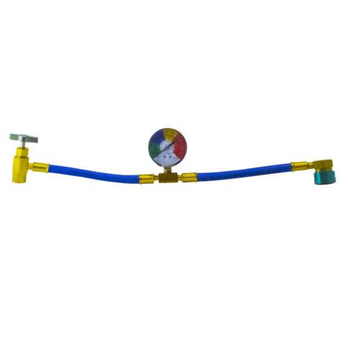 Autóklíma töltő cső FRIGOSTAR R1234YF közeghez (órával, csappal)