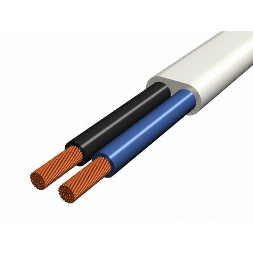 H03VVH2-F (MTL) 2x0,75mm2 lapos kábel FEHÉR