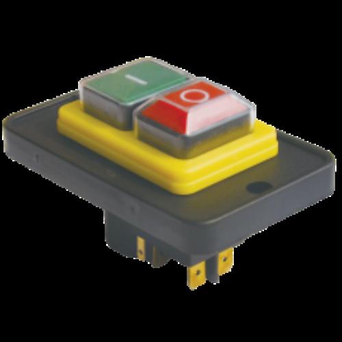 TRACON SSTM-025 PIROS-ZÖLD, fekete kerettel 5pin, 12A, IP54 Relés biztonsági kapcsoló