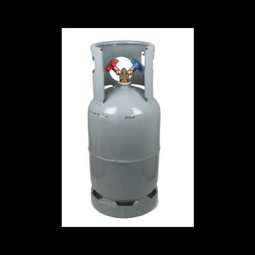 Palack üres kereskedelmi értékesítésre 6 liter 42 bar acél kétcsapos sz. 2 oszt., 4 száll. oszt.