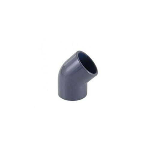 PIPELIFE KAB PVC lefolyó könyök 45°, 63 mm