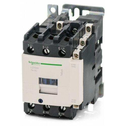 Mágneskapcsoló SCHNEIDER ELECTRIC TESYS LC1D40B7 24 V AC 50/60 Hz (18,5kW/400V)
