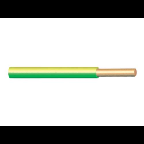 H07V-U (MCU) 1x1,5 mm2 zöld/sárga vezeték