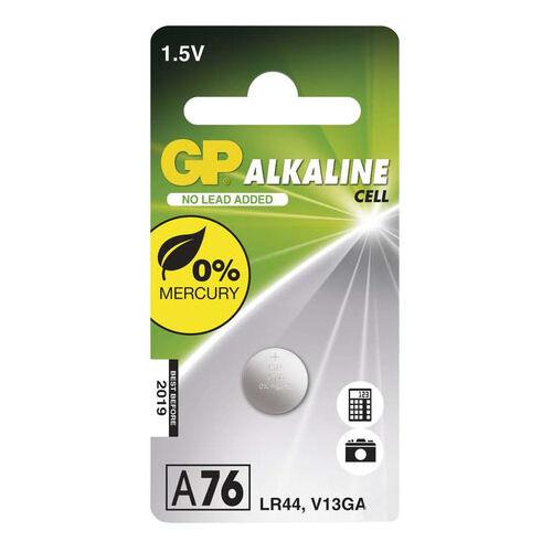 Elem GP A76F gomb alkáli 1,5 V LR44 (1 db gombelem)