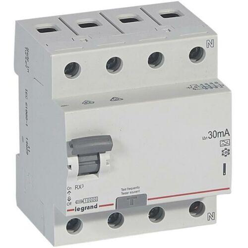 Áramvédő kapcsoló (Fi-Relé) LEGRAND RX3 4P. 40A 30mA (402075)