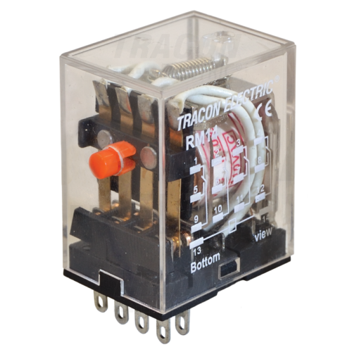 TRACON RM14-230V AC Relé 14 pólus 4CO érintkező 10A