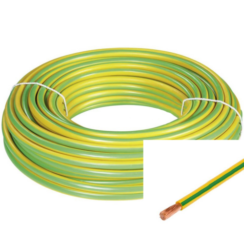 H07V-K (MKH) 1x6mm2 zöld/sárga vezeték